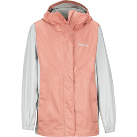 Marmot PreCip Eco Jacket Jenter coral pink/bright steel